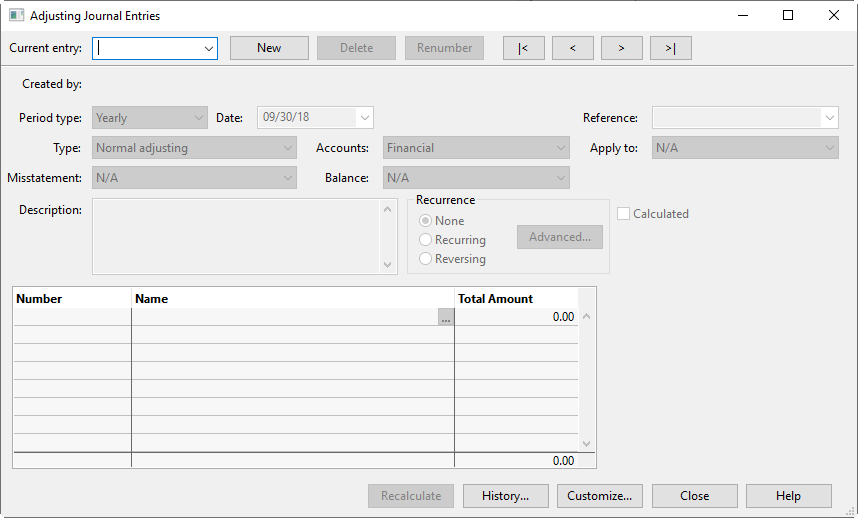 Sample dual dating financial statements